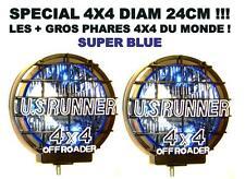 2 BEAUX PHARES 24CM 4X4 HDJ KDJ LJ BJ FJ Y60 Y61 PATROL PAJERO WRANGLER CHEROKEE