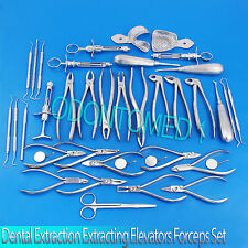 Dental Extraction Surgery Extracting Elevators Forceps Instrument 39 Pcs