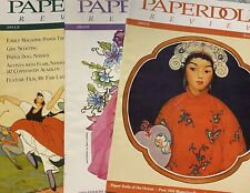 PaperDoll Review Magazine Lot of 4 #48 #52 & #53 Loads of wonderful paper dolls