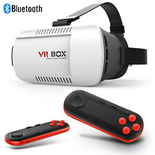 VR BOX Virtual Reality 3D Glasses Bluetooth Remote Control For Smartphone Black