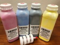 "(165g/140g) 4 Toner Refill for Xerox Phaser 6510, WC 6515 ""GLOSSY"" - NO Chip !!"