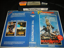 VHS *THE BEASTMASTER* 1982 Pre Cert RARE Roadshow Cult Classic Fantasy Adventure
