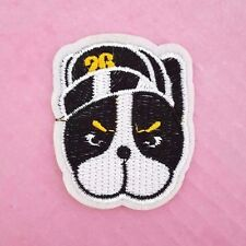 Cool Bulldog in a Baseball Hat / Dog / Iron on / Sew on patch / Applique / Badge