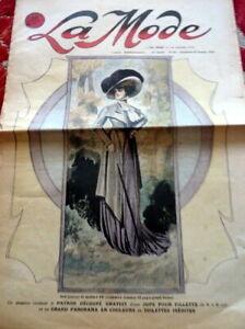 *Antique 1900s PARIS FASHION & SEWING PATTERN CATALOG LA MODE 1908