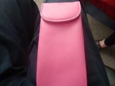 Handmade Genuine  Double  LEATHER Eyeglass Case Pink NEW