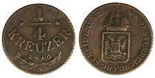 Austria 1/4 Kreuzer 1816 A #4141A