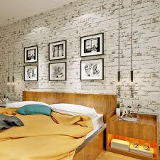 Retro 3D Stone Brick Wallpaper Mural Modern Wall Background Textured Art Bar