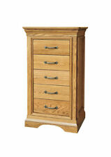 Oak Unbranded Contemporary 5 Chests of Drawers