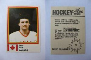 1980-81 Semic World Championship #76 Pirie Brad  sticker  canada RARE