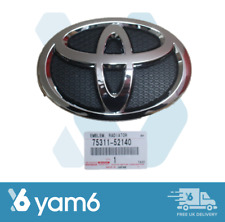 NEW GENUINE TOYOTA YARIS FRONT GRILLE BADGE EMBLEM 2005-2011 75311-52140