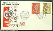 VIETNAM CENTENARY OF THE INT'L TELECOMMUNICATION UNION SET FIRST DAY COVER