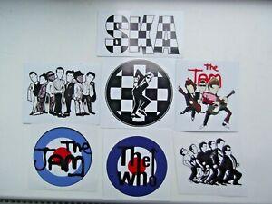 MOD / SKA  VINYL Stickers  waterproof - 7 FOR £ 3.25  !!   SPECIALS WHO JAM SKA