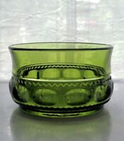 "Indiana Colony Glass Green Kings Crown 4 1/4"" Berry Dessert Bowl"