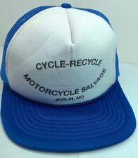 Cycle-Recycle Motorcycle Salvage Hat Cap Blue Joplin, MO