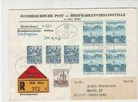 Austria 1968 Wien Cancels Registered FDC Multiple Subject Stamps Cover Ref 27504
