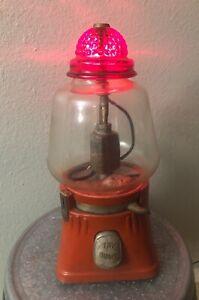 Vintage 5 cent REGAL Hot nut Vending Machine Complete With Keys Works!