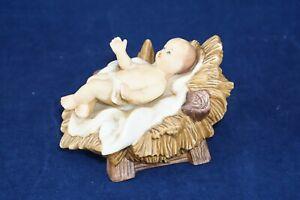 "4"" Baby Jesus Manger Grandeur Noel Nativity Porcelain Replacement Figurine 1994"