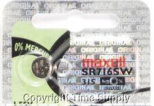 Maxell 315 SR716SW D315 V315 V530 GP315 SR67 Battery 0% MERCURY ( 1 PC )