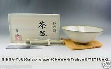 c1910,Japanese,T.NAKAO, Winter Galaxy glaze Teabowl (HIRA type, for summer).