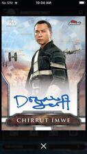 Topps Star Wars Digital Card Trader Topps Finest Rogue One Chirrut Sig Insert