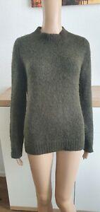 Prada  Damen Pullover Stehkragen grün 63% Alpaka, 37% Seide Gr.40-42
