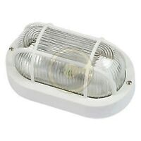 Fme art 62.702 plafoniera lampada ovale con griglia E27 bianca per lampade fino