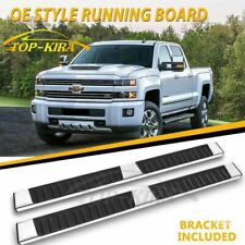 """Fit 99-16 SILVERADO SIERRA DOUBLE CAB 6"""" RUNNING BOARDS SIDE STEP NERF BAR S/S H"""