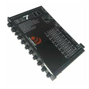Massive Audio EQ7X 7-band In-dash Graphic Equalizer with 8V Line Driver