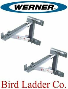 "(1 pair) WERNER AC10-14-02 Aluminum Short Body Ladder Jacks - 14"" Wide Plank"