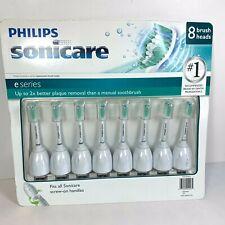 8 pk Genuine Philips Sonicare Toothbrush e Series Replacement Brush Heads