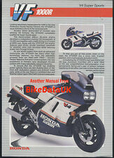 Oficial Rothmans honda-UK VF1000R (1986 - >) FOLLETO de ventas SC16 vf 1000 R-G AF56