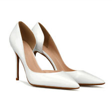 Large High Heels Pumps Lady's Patent-leather Shoes Pointed Toe OLPlue  Size