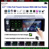 4''1 Din Autoradio écran Tactile 2USB AM Bluetooth RDS FM MP5 Lecteur AM +Caméra