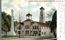 Walden,New York,Engine House & Soldiers Monument,Orange County,Used,Walden,1907