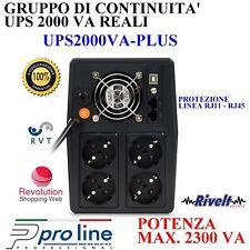 Gruppo di Continuità Protezione ADSL Dati LCD Telecamere DVR Pellet UPS 2000 VA