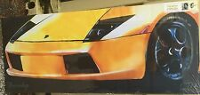 """Lamborghini Yellow canvas  48"""" x 20"""" mounted on a wooden stretcher(L)"""