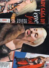 SP65 Clipping-Ritaglio 2013 Lady Gaga diventa Venere folle