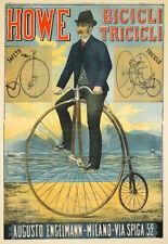 Bicycle Bike Howe Bicicli Tricicli Cycle Deco  Poster Print