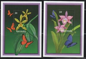 Grenada-G.   2000   Sc # 2939-40   Orchids    2 s/s   MNH   (54366)