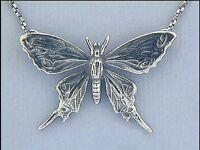 Jugendstil Collier Anhänger Schmetterling 925er Silber Schmuck - Neu