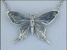 Jugendstil Collier Anhänger Schmetterling 925er Silber Unikatschmuck - Neu