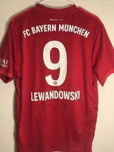 Signed Robert Lewandowski Bayern Munchen Adidas Climalite Jersey Size Large Red