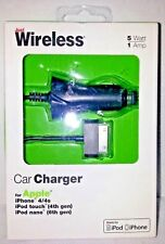 Just Wireless Apple i Phone 4/4s iPod Nano iPod Touch Car Charger Black