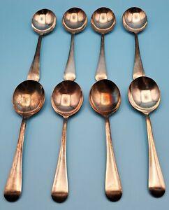 Vintage Grosvenor EPNS Super A1 Soup Spoons ~ Set of 8