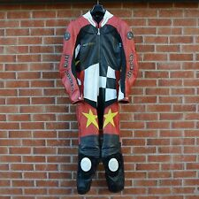 Hein Gericke Motorcycle Hi ProTec11  Pro Sports Racing Suit Leather Label EU 54