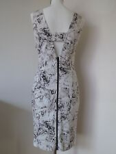 MOHITO Collection Dress  Marble Print Cut Out Back Knee Length Size 38 / 10