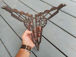 fancy antique cast iron folding corner shelf bracket