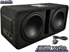 """12"""" Twin Active Amplified Double Bass Box Sub Car built in Amp 3600W CLEARANCE"""