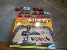 MOTORCITY Play set Matchbox Super Kings Audi Firetruck 13 diecast car case LOT