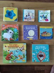 Set 8 Babybücher Kinderbücher Paket Konvolut Unkaputtbar Fühlen Drehscheib